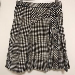 Anthro Odille gingham layered skirt w petticoat